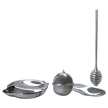 Ikea Juego de té Bloss Poto 3 Piezas Accesorios de té con infusor de
