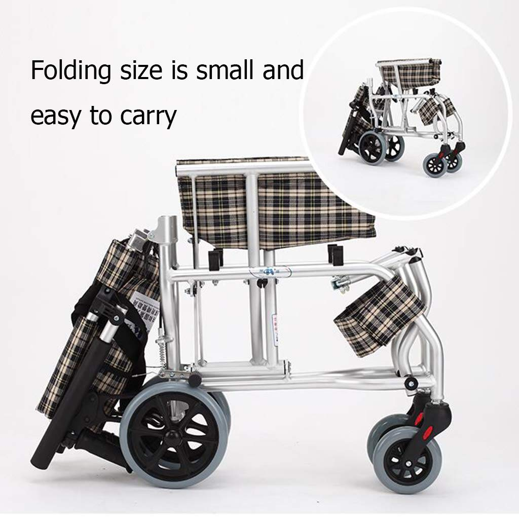 Amazon.com: Self-Propelled Wheelchairs Wheelchair Travel Chair Scooter Home Elderly Disabled Folding Wheelchair Childrens Wheel Travel Chair Trolley ...
