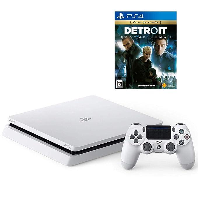 PlayStation 4 グレイシャー・ホワイト 1TB + Detroit: Become Human セット【Amazon.co.jp特典】オリジナルカスタムテーマ (配信)