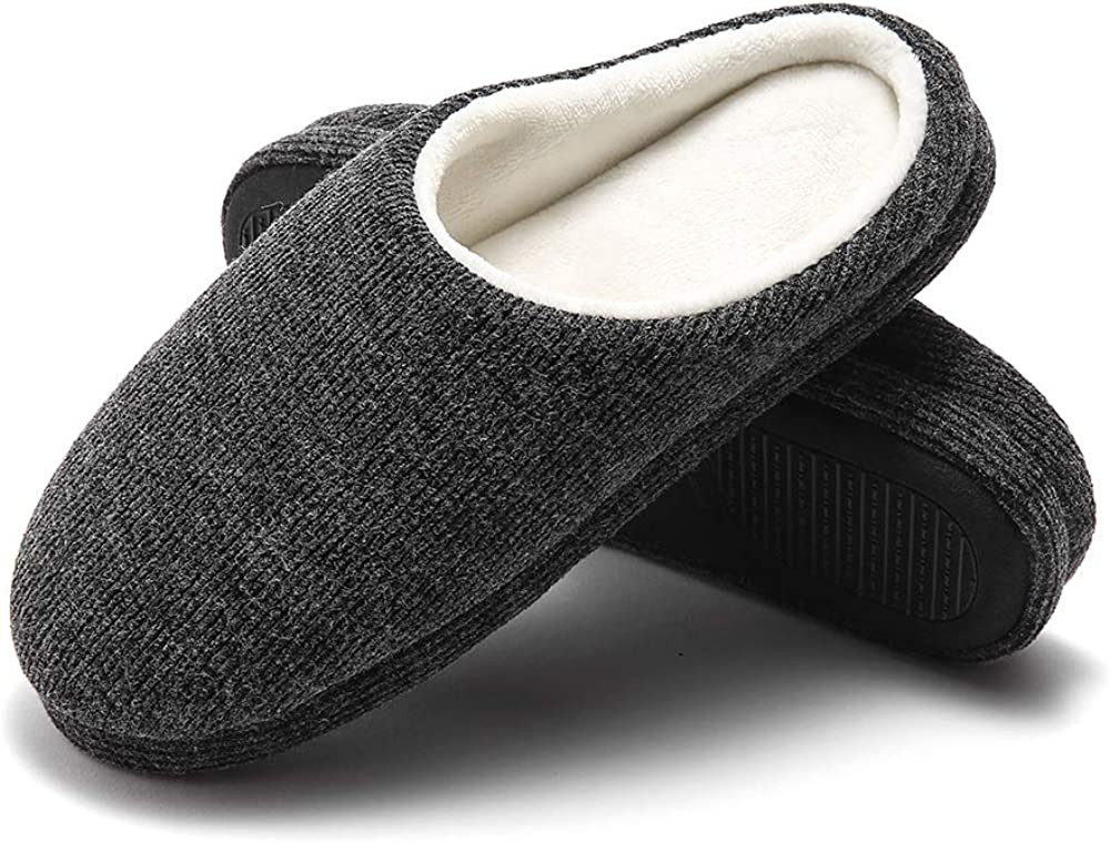 GaraTia Slippers for Men Warm Memory Foam House Shoes Winter Cozy Bedroom Home Slippers