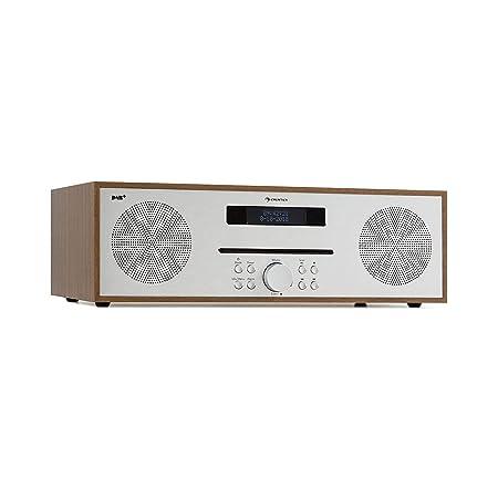 auna Silver Star CD-DAB CD-Player mit DAB+- und UKW-Radio • Slot-In CD-Player • CD-Radio • Bluetooth • 2 x 20 Watt max. • USB