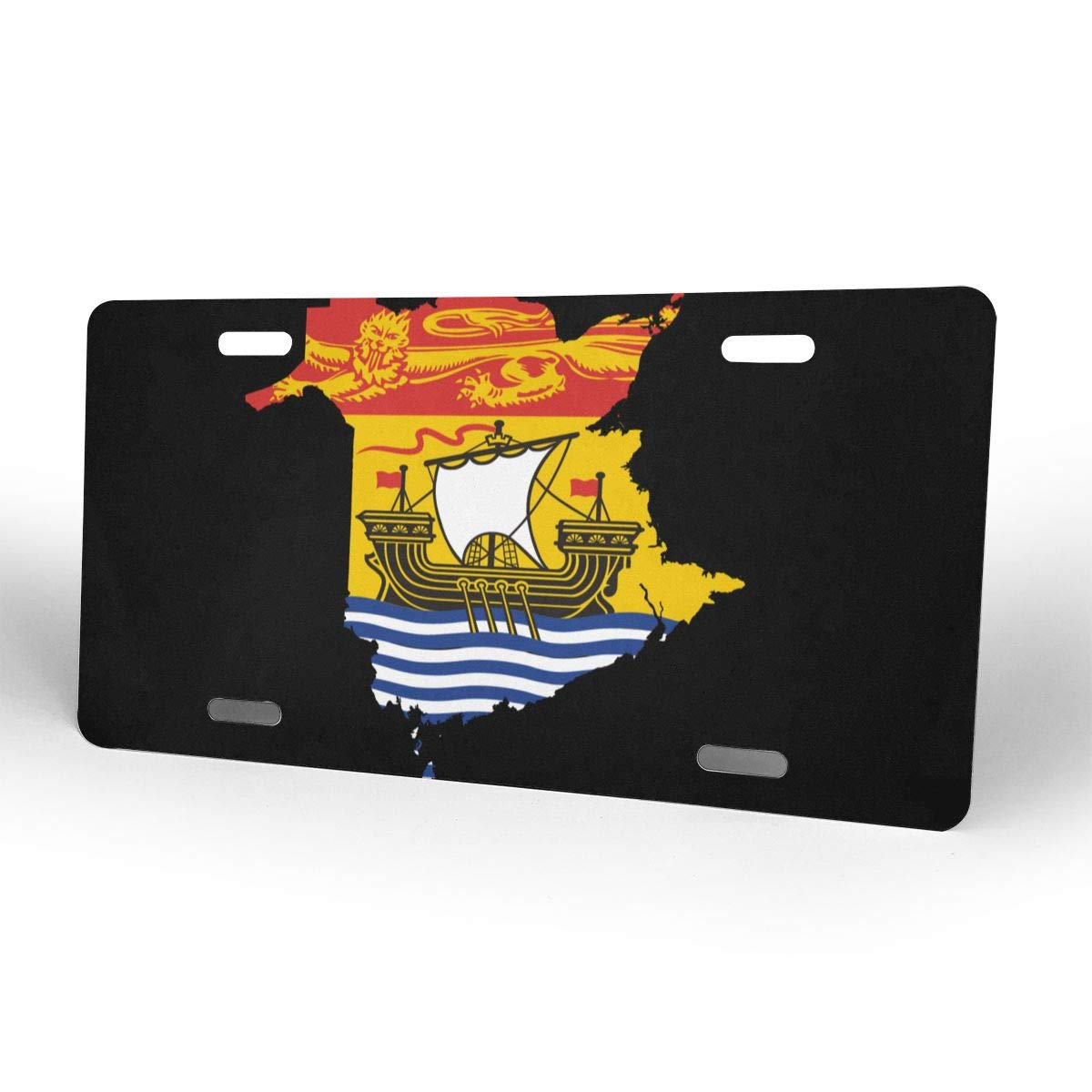 Flag Map of New Brunswick Metal License Plate Vanity Car Tags 6 X 12