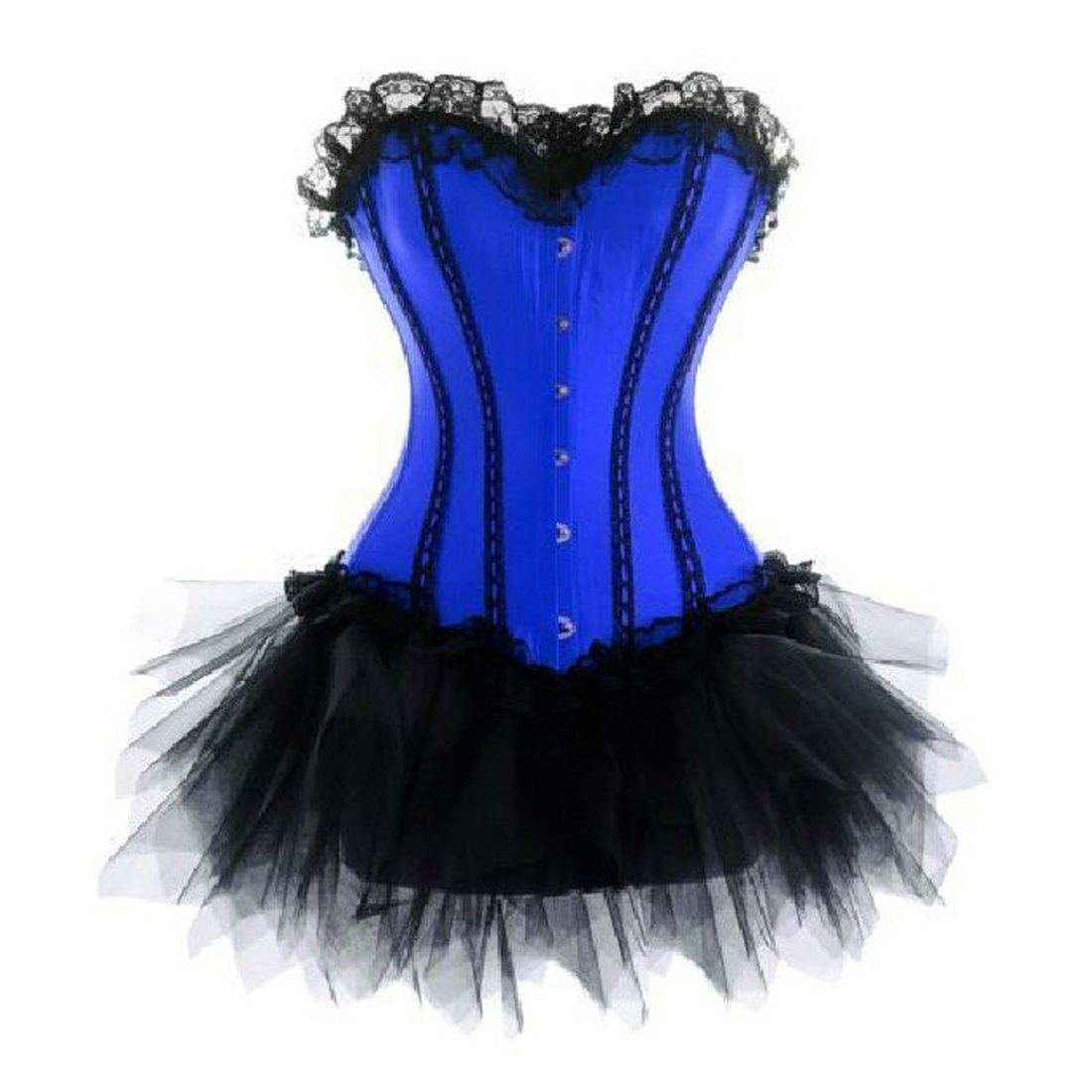 JL Corset Wedding Lace up Boned Trim FANCY DRESS Corset & Tutu GUK-036+7008