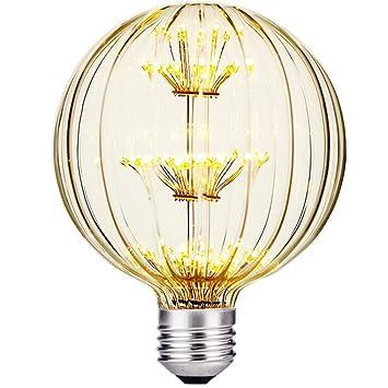 WJING Bombillas LED Edison, E27/E26 Globe Bulb, Linternas De Calabaza, Fiestas De Halloween, Bombillas De Bajo Consumo 3W, Amarillo Cálido: Amazon.es: ...