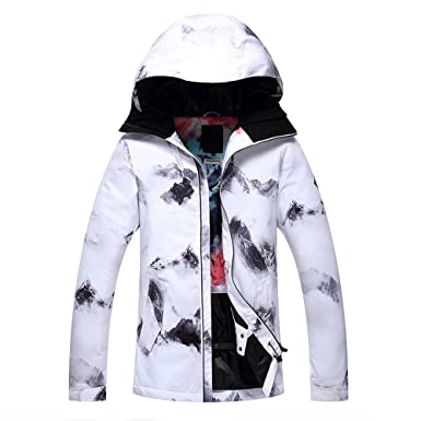 76e33e8986 RIUIYELE Women s Ski Bib Suit Jacket Waterproof Snowboard Colorful Printed  Ski Jacket and Pants Set