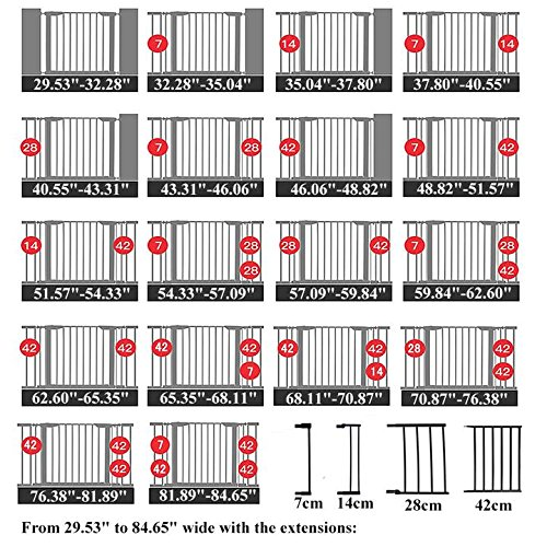 Fairy Baby Infant Decorative Wood & Metal Extra Wide Walk Thru Gate,Fit Spaces 54.33''-57.09'' by Fairy Baby (Image #9)