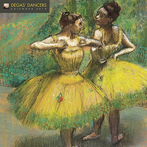 Degas' Dancers 2019 12 x 12 Inch Monthly Square Wall Calendar by Flame Tree, French Impressionism Impressionist Art Artist Painter