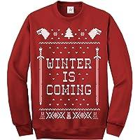 Jersey navideño con texto en inglés «Winter is coming» de manga larga, para adultos