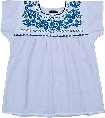 YZXDORWJ Blusa Mexicana de algodón para Mujer, Camisa Blanca - Blanco - XXX-Large: Amazon.es: Ropa y accesorios