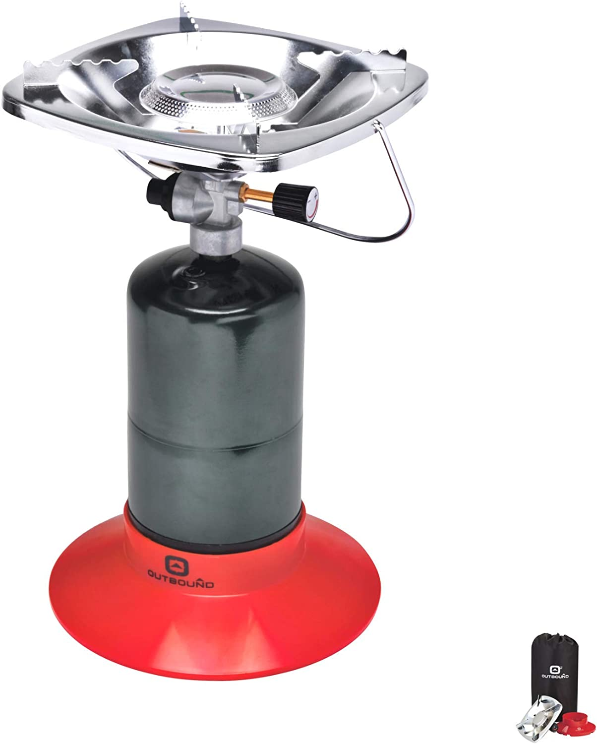 Outbound Propane Stove Portable Gas Stove Single Burner Perfect Bottletop Camp Stove for Backpacking, Camping, Fishing, and Outdoor Cooking
