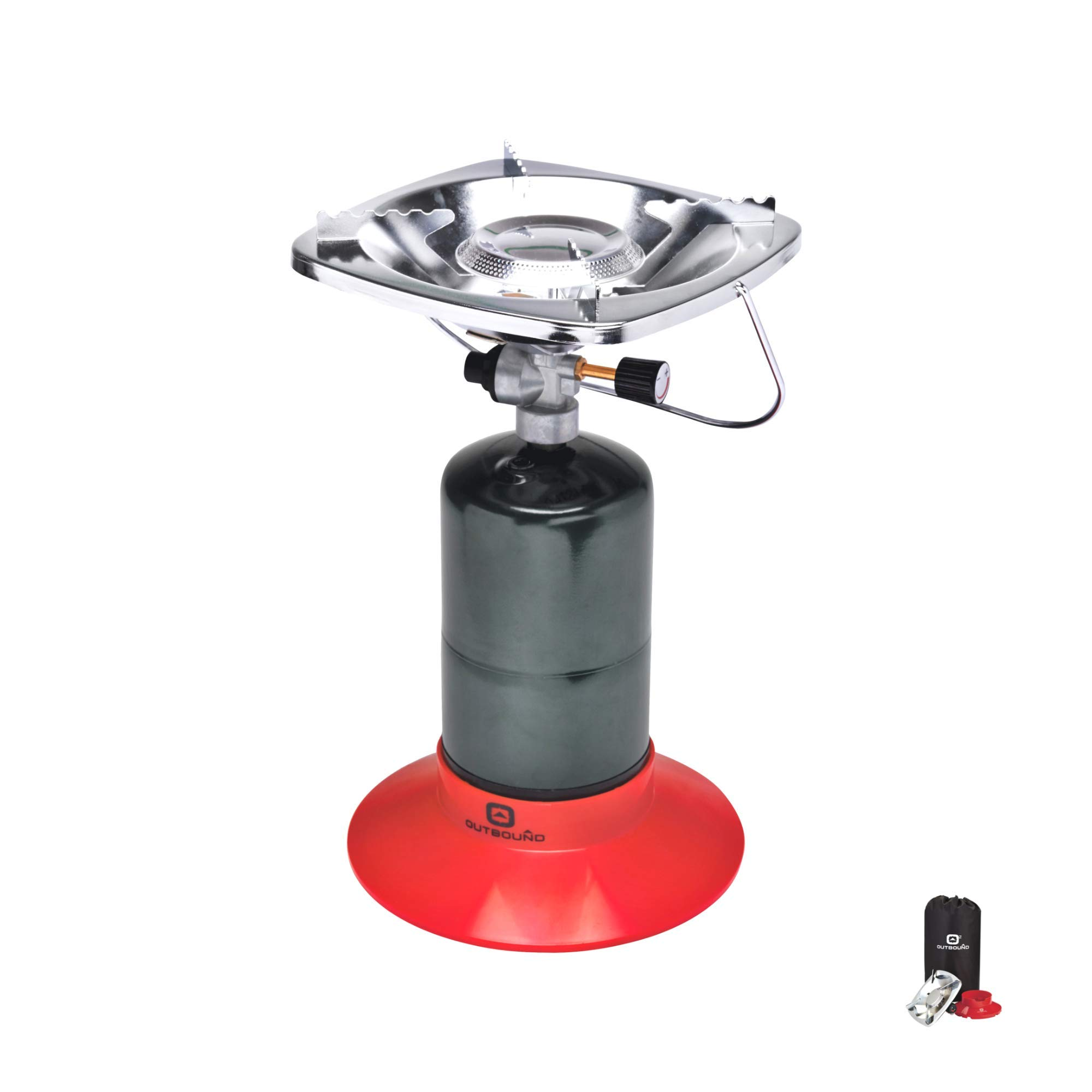 Outbound Propane Stove | Portable Gas Stove Single Burner | Perfect Bottletop Camp Stove for Backpacking, Camping, Fishing, and Outdoor Cooking by Outbound
