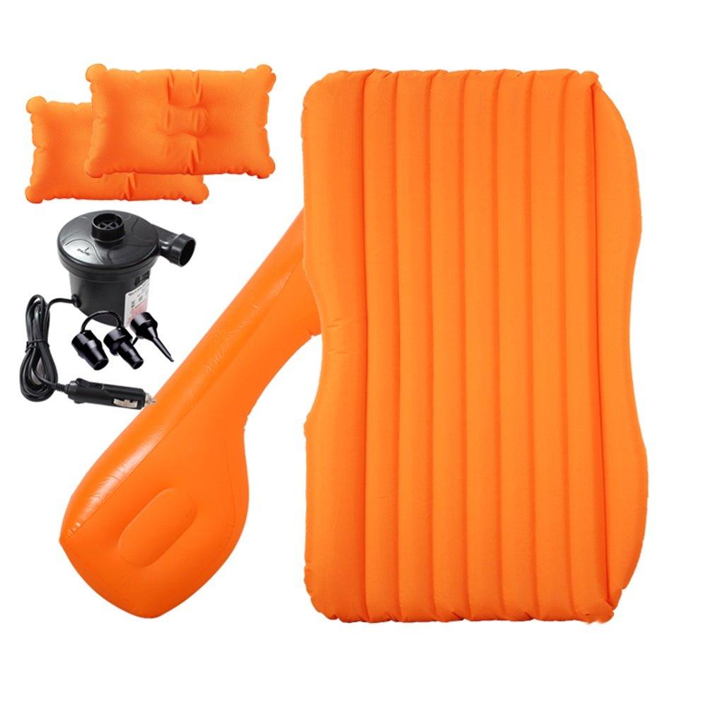 SUVユニバーサルカートラベルマットレスポンプと枕エアベッドダブルサイズクッションシートキャンプ屋外のセックスベッド ( 色 : オレンジ ) B07CLY25MF オレンジ オレンジ