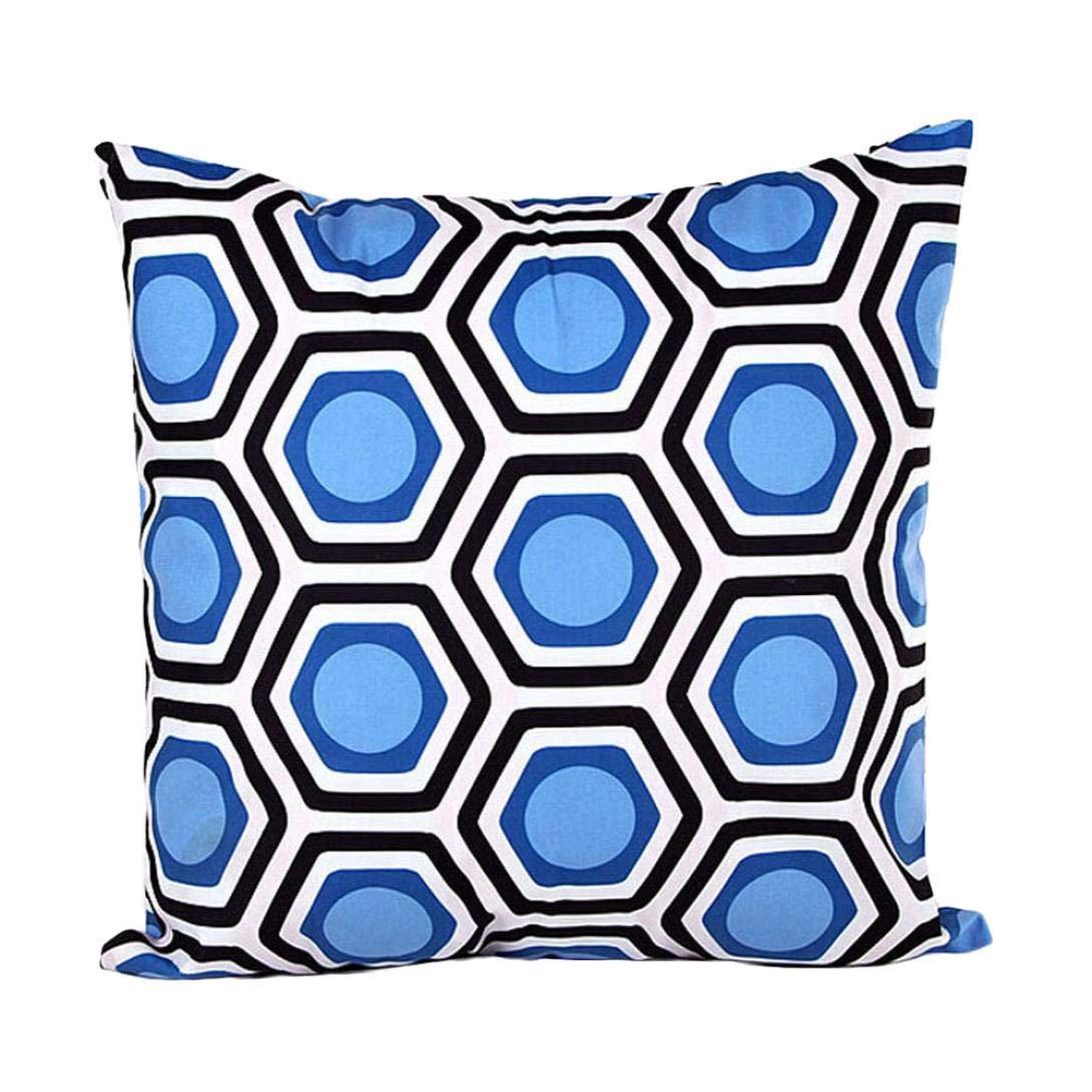 VJGOAL única impresión geométrica Almohada Cubierta Forma ...