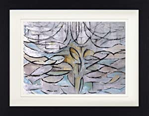1art1 Piet Mondrian Framed Collector Poster - The Flowering Apple Tree, 1912 (16 x 12 inches)