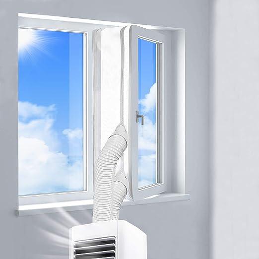 400CM Joint de Fen/être Tissu De Calfeutrage De Fen/êtres pour Climatiseur Portatif Et S/èche-Linge Arr/êt dair Chaud Installation Facile