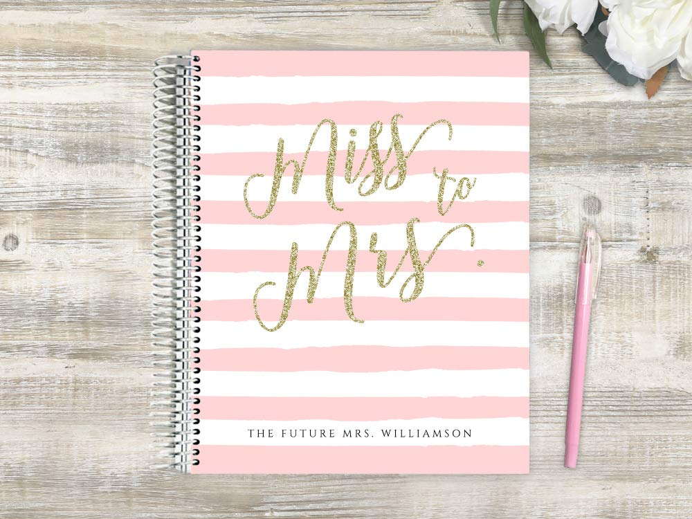 Customized Wedding Planner, Custom Engagement Gift, Wedding Organizer, Bride Planner, Miss to Mrs Wedding Planner by PurpleTrail (8.5x11)