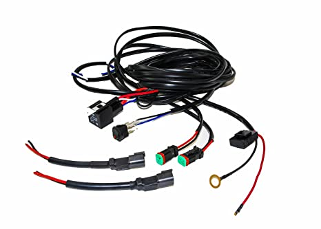 OZ-USA 16# AWG Double DT Plug Wiring Harness Kit with DC 12v 40A Relay, on