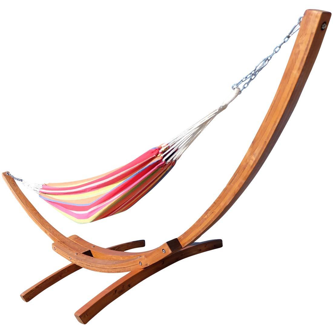 Amaca XXL deluxe nobile 410cm con cornice in legno larice mod. 'MONA' AS-S