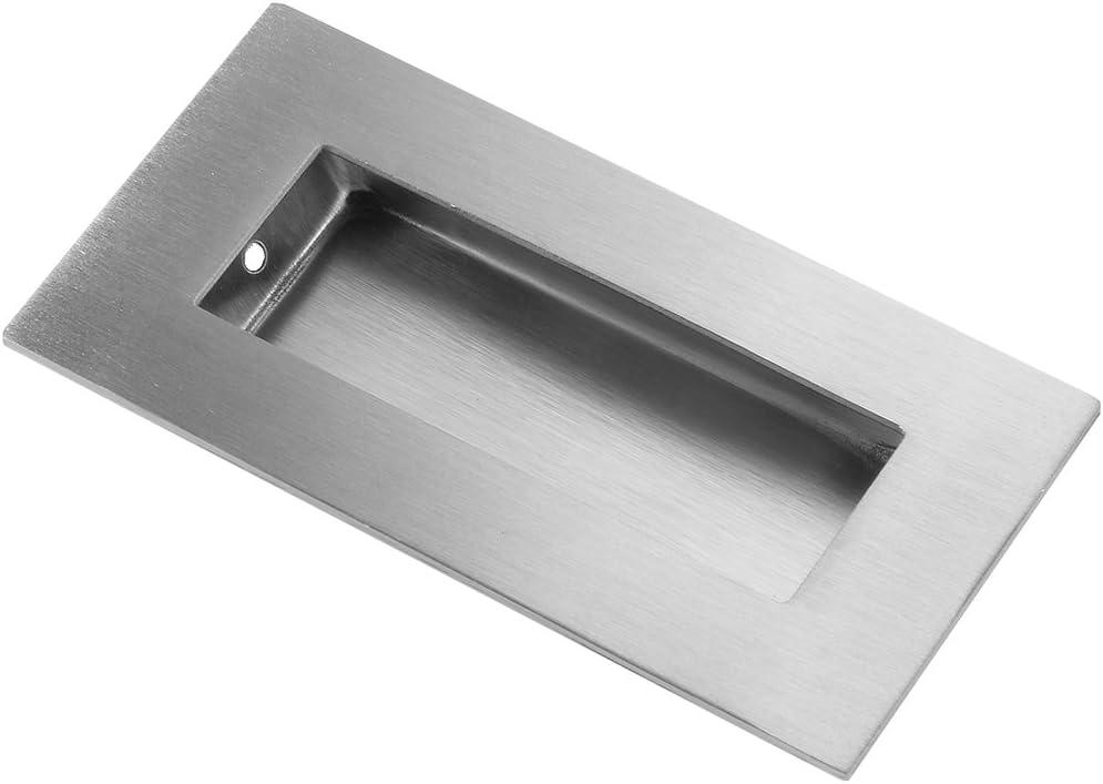 Aexit 4 pulgadas x 2 pulgadas empotrado empuñadura de la puerta corredera empuñadura al ras 201 acero (model: T8202VIX-7579UY) inoxidable 2 piezas: Amazon.es: Bricolaje y herramientas