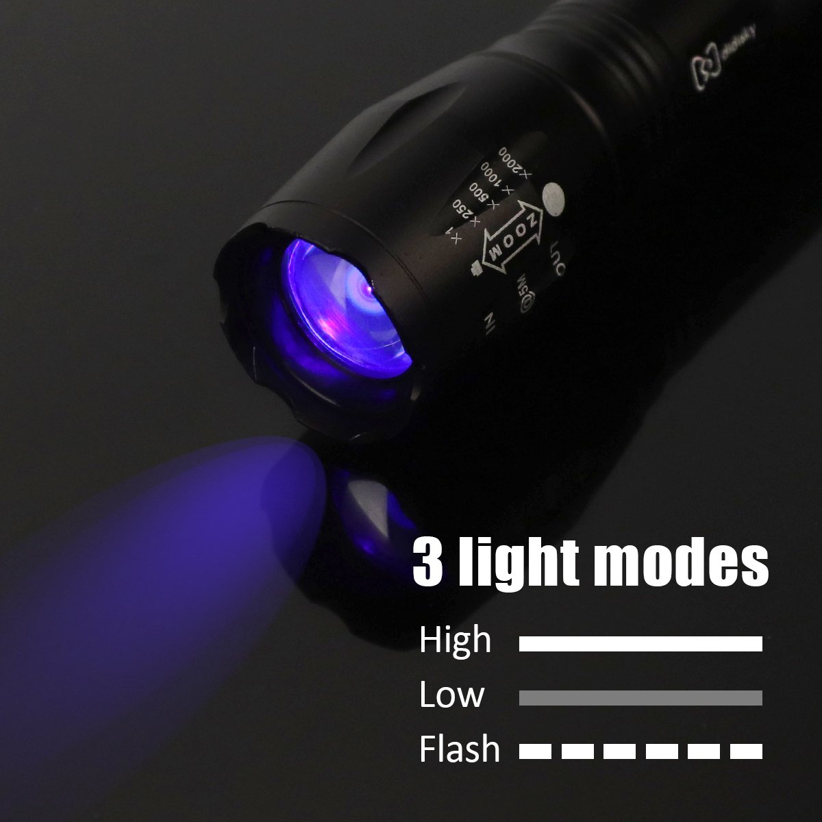 Portable Lighting Flashlights & Torches 3x Aaa Obedient 1-mode Purple Light 9 Led Flashlight Uv Flashlight Led Lamp Torch Mini Flashlight W/ Battery Holder