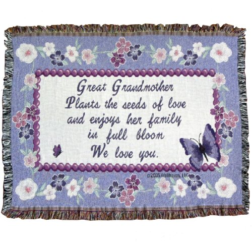 Jubilee Celebrations Great Grandmother Throw Blanket - Great Grandma Gift