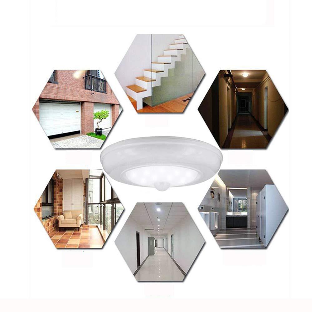 17LED Motion Sensor Ceiling Wall Light Stairs Hallway Closet LED Light for stairwell, Hallway, Basement, Garage, Bathroom, Closet, Garden-Anywhere-Large ...