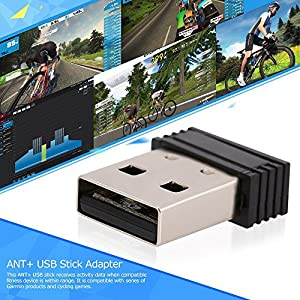 USB ANT+ Dongle,Mini Size Dongle USB Stick Adapter for Garmin,Sunnto,Zwift,PerfPRO Studio,CycleOps Virtual Trainer,TrainerRoad by Coospo