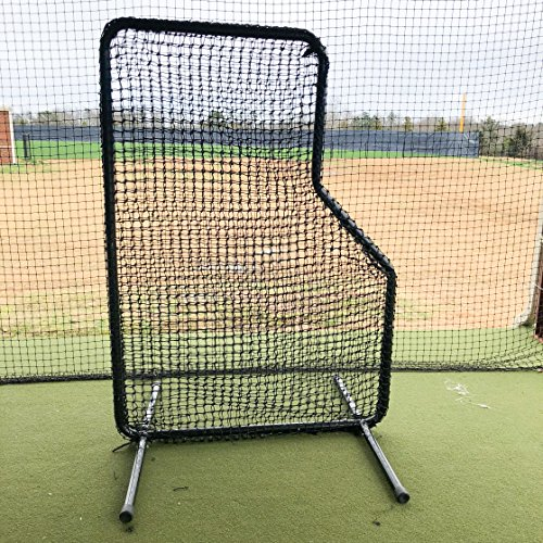 BASEBALL JR L SCREEN 5'x7' 1 5/8'' OD 16 GAUGE STEEL AND 60 GAUGE HDPE NET by GAMERS SPORTS GROUP