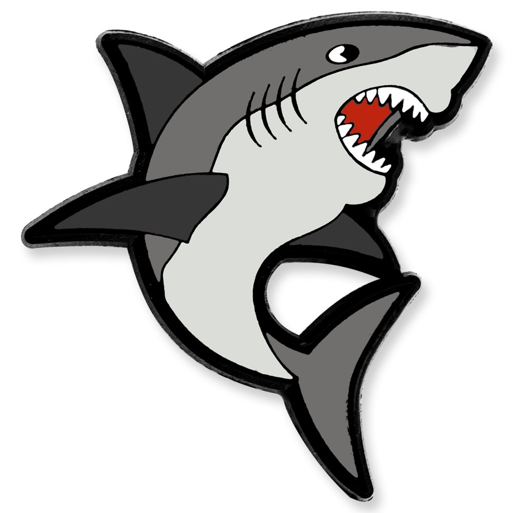 PinMart Shark Ocean Animal Enamel Lapel Pin