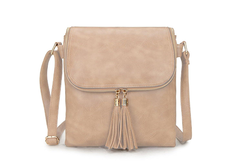 Craze London Women Faux Leather Trendy Tassel Designed Cross Body Multi Compartment Messenger Long Shoulder Strap Shoulder bag