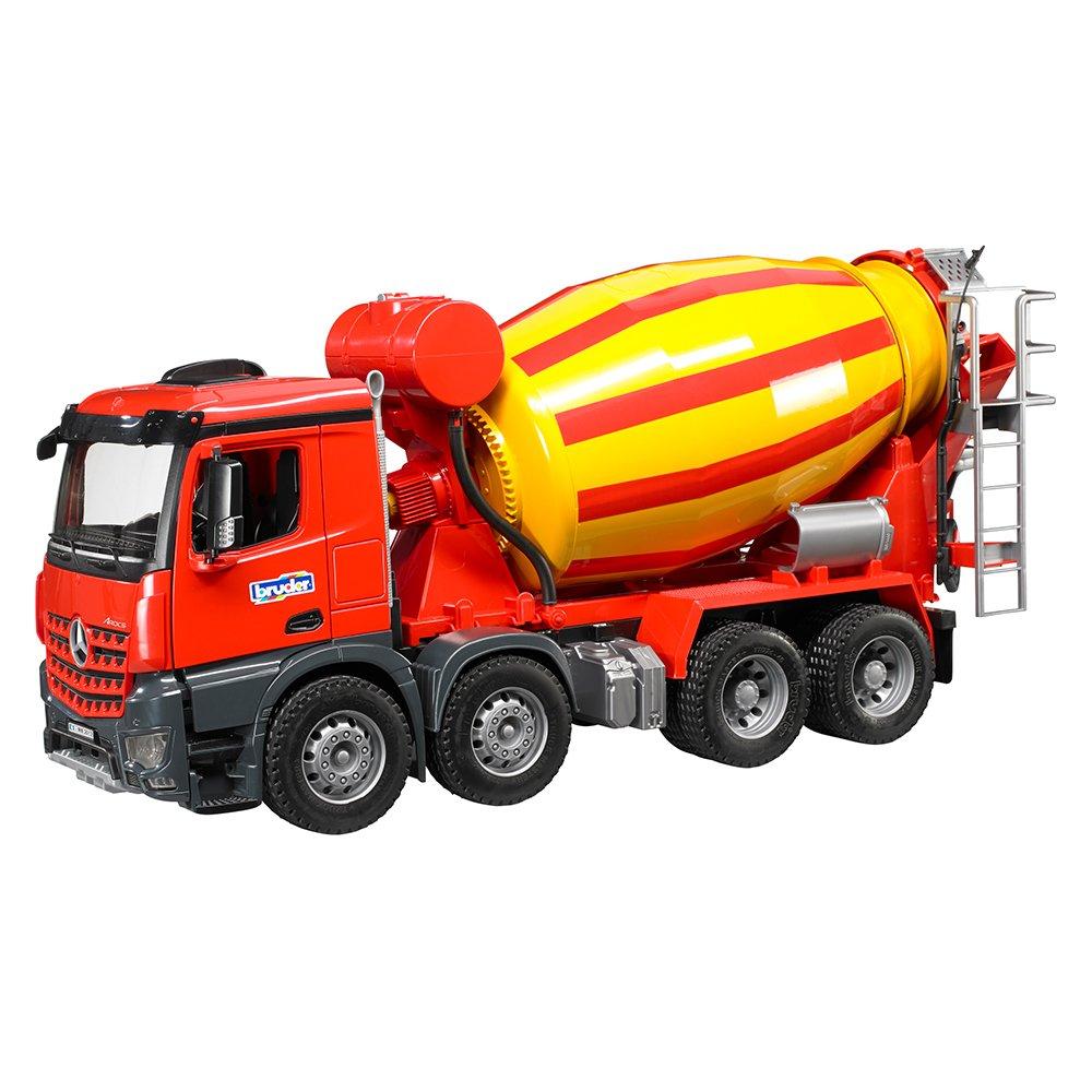 BRUDER - 03654 - Camion toupie à beton MB Arocs - Rouge Jaune product image