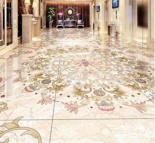 LWCX 3D Flooring Custom Wallpaper High-End Luxury Marble Mosaic 3D Floor Tiles Pvc Self -Adhesive Wallpaper 430X280CM