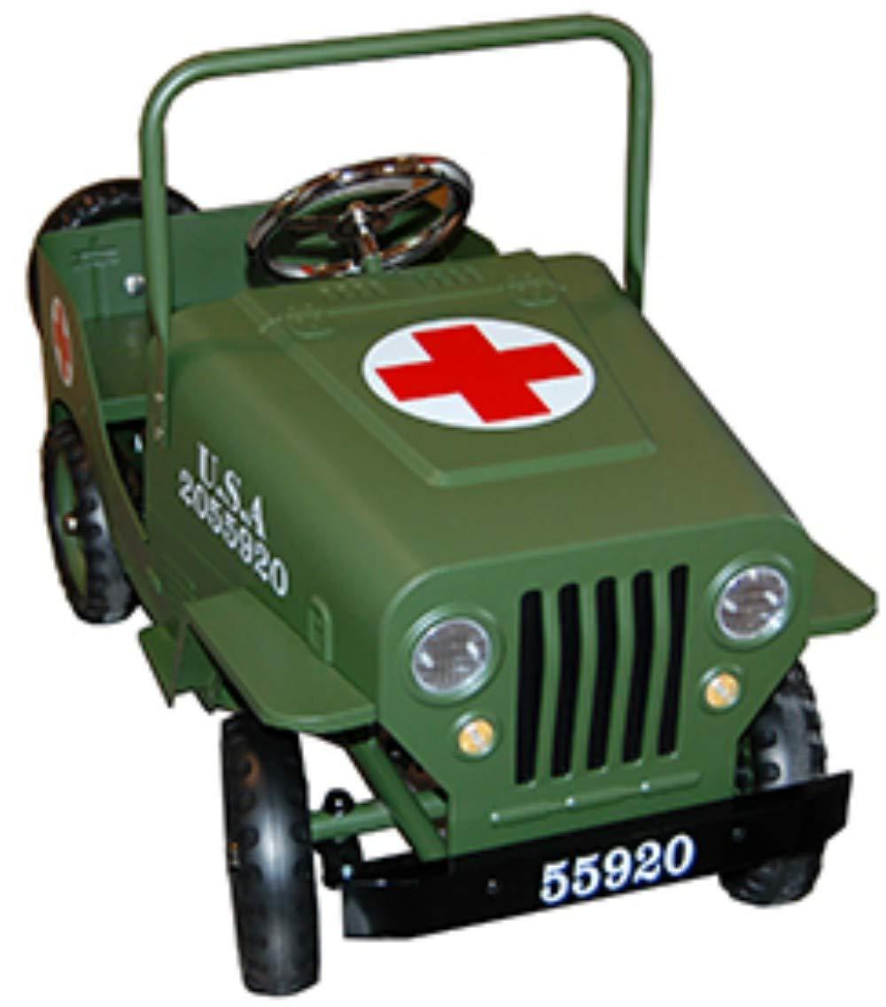 Juguete Infantil Decorativo De Metal Jeep Cruz Roja Verde Verde