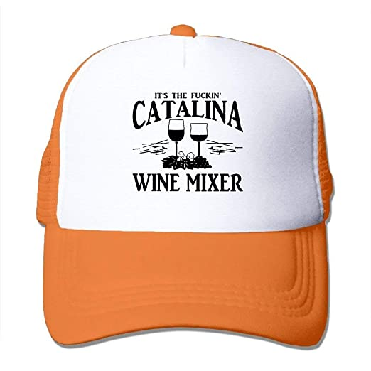 d2d4b5b8f9343 Image Unavailable. Image not available for. Color  Cool Baseball Caps  Fuckin  Catalina Wine Mixer Mesh Sport Fishing Hats Dad Hat