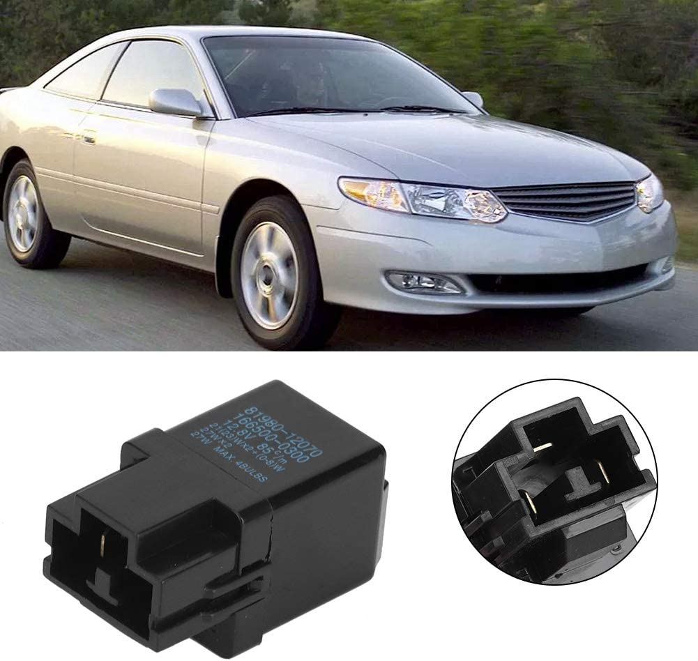 Flasher Relay Flasher Relay Turn Signal 81980-12070 Fit for TOYOTA Replacement Auto Accessory