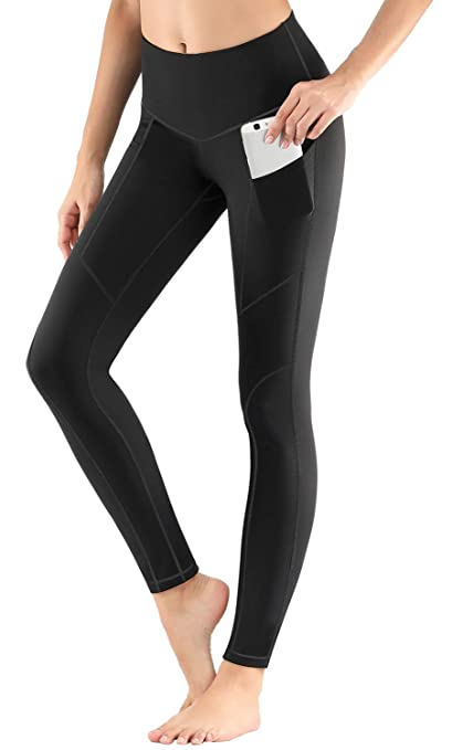 c2a4a92faf3 ESPIDOO Yoga Pants with Pockets for Women V-Shaped High Waist Yoga Leggings  Tummy Control