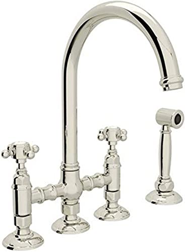 ROHL A1461XMWSPN-2 KITCHEN FAUCETS, 4.75 x 17.00 x 11.00 inches, Polished Nickel
