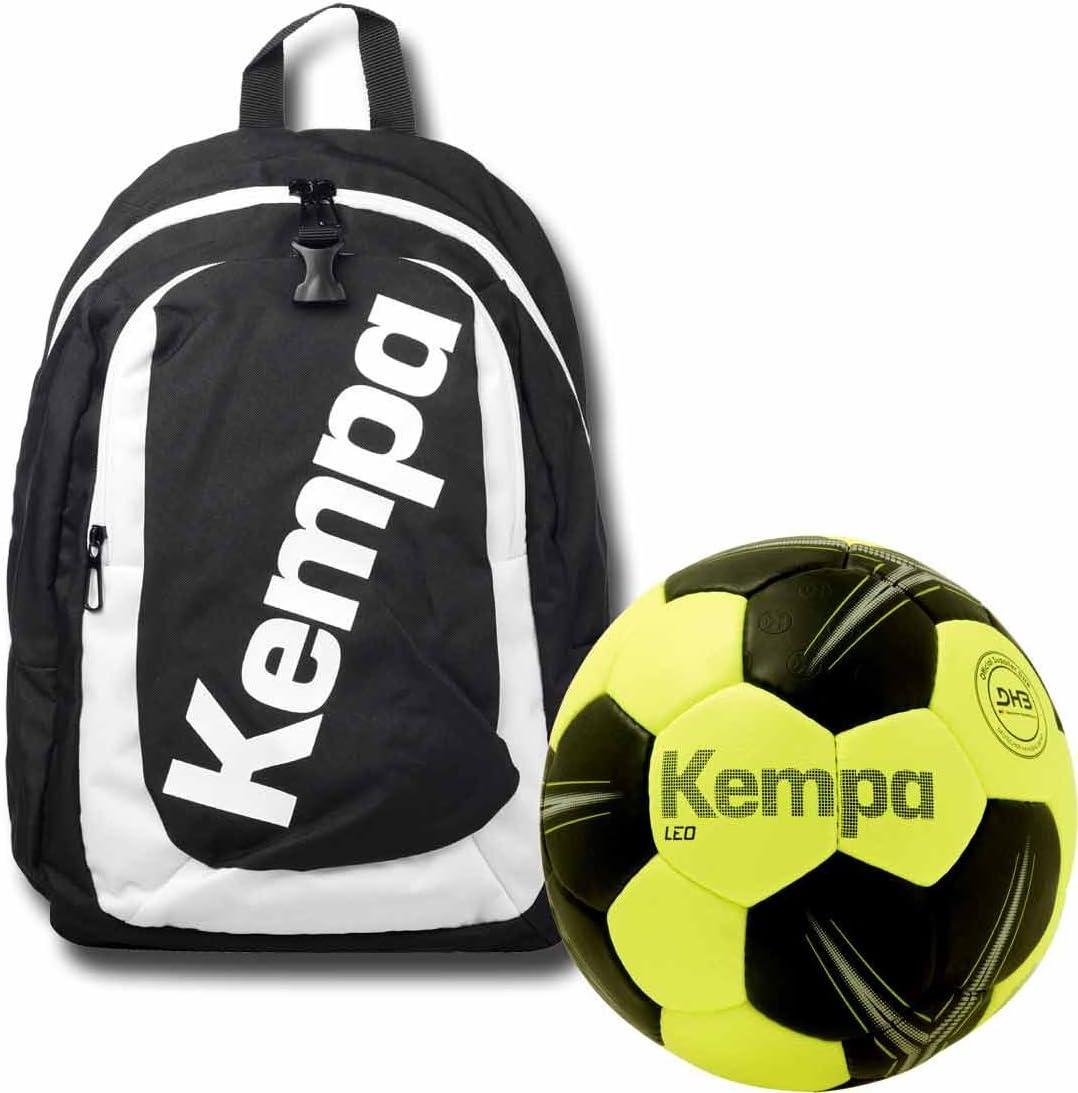 Kempa Mochila Negro Incluye Red de fútbol para niños con de ...