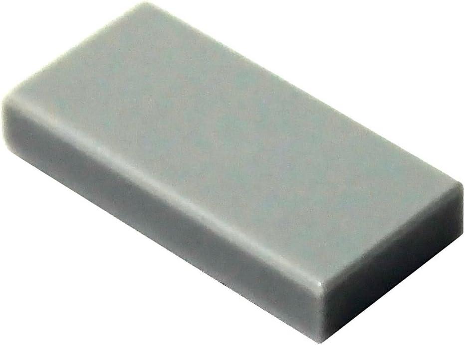 LEGO Parts and Pieces: Light Gray (Medium Stone Grey) 1x2 Tile x100