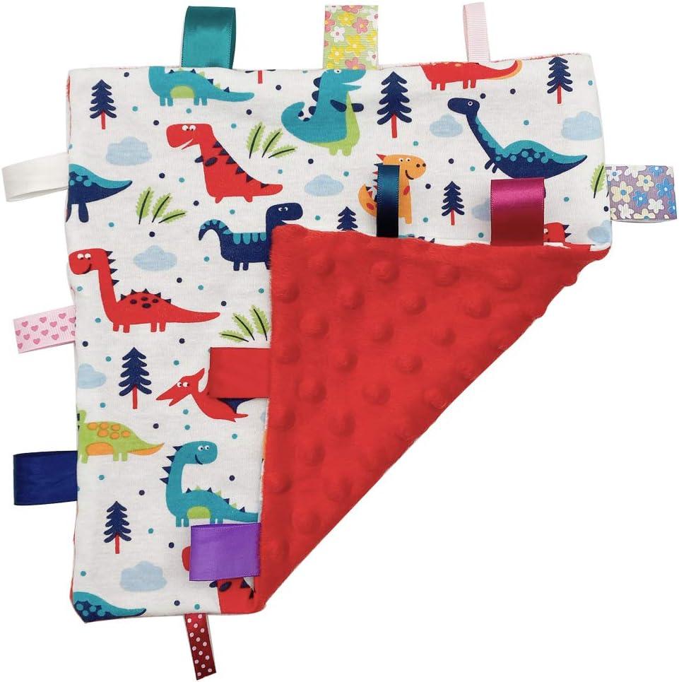 manta de seguridad cintas de colores Manta para beb/é manta de seguridad suave para beb/és edred/ón para reci/én nacidos