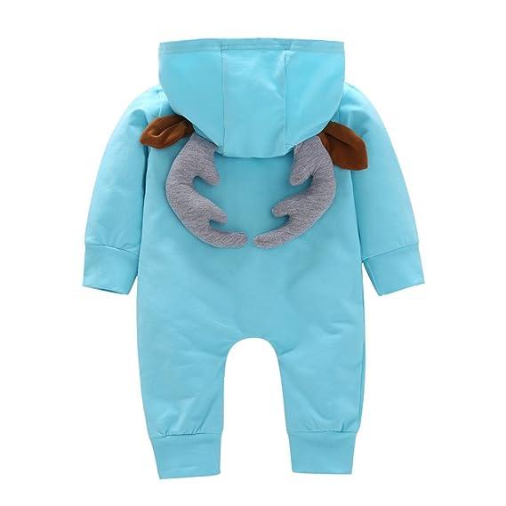 Monos bebé, ❤ Modaworld Niño pequeño bebé niñas niños 3D Cartoon Ciervos Monos con Capucha Mameluco Trajes de Disfraces Peleles Ropa Bebé Recien Nacido: ...