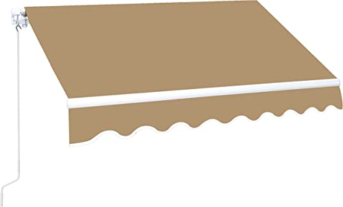 MUPATER 10'x12' Retractable Patio Awning Sun Shade Cover