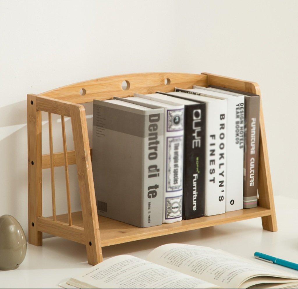 ZMSJ-YJ Estantería de la Escritorio Estantes de Almacenamiento Mesa Simple en la de Mesa Estante de bambú Multifuncional para Estudiantes Estantería para Estudiantes (Tamaño : 43  22  28cm) 9a1f78