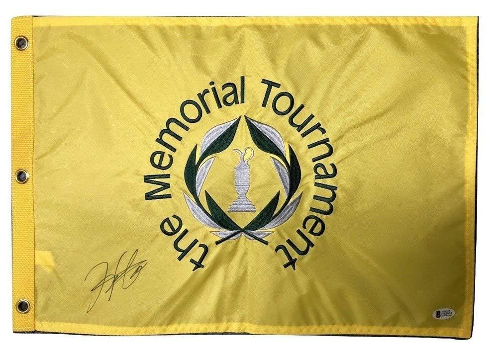 Hideki Matuyama Autographed Signed Memorial Tournament Flag Beckett Authentic