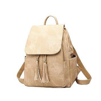 Cmbyn Simple Moda Mochilas Mujer PU Cuero Adolescentes Bolsas Casual Bolsa De Estudiante Dama Moderna Backpack: Amazon.es: Equipaje
