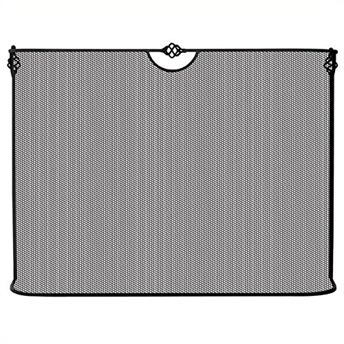 UniFlame Single Panel Curved Black Wrought Iron Spark Guard For Sale