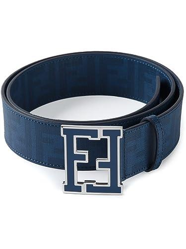 a79cae2f41 Amazon.com: Fendi Logo Reversible Zucca Leather Black New Belt Self ...