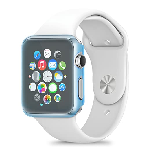 7 opinioni per kwmobile Crystal Hardcase per Apple Watch 42mm (Series 1) in blu- protezione a