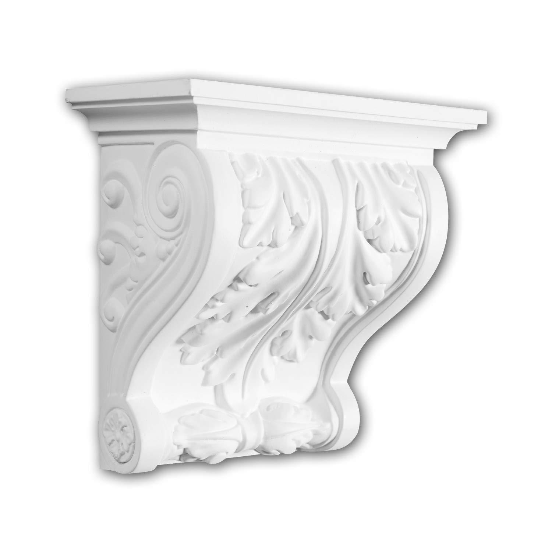 M/énsula 119016 Profhome Elemento decorativo estilo corintio blanco