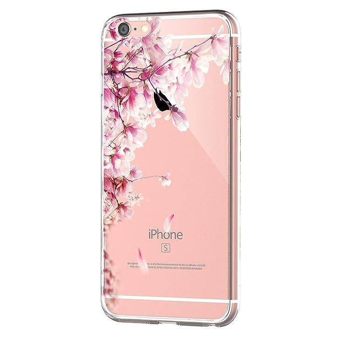 Qissy Carcasa iPhone 6 6s TPU Transparente Funda Cubierta de Silicona de Ultra Delgado impresión de Estuche Carcasa Trasera para Apple iPhone 6/6s 4.7 ...